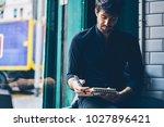 stylish male entrepreneur... | Shutterstock . vector #1027896421