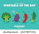 vintage vegetable poster design ... | Shutterstock .eps vector #1027897231