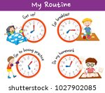 different times and activities... | Shutterstock .eps vector #1027902085