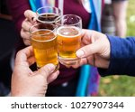 group of friend celebration... | Shutterstock . vector #1027907344