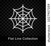 spider web icon on checkered... | Shutterstock .eps vector #1027907359