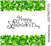 st. patrick day poster. patrick ... | Shutterstock .eps vector #1027907725
