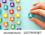 image of colorful blocks with... | Shutterstock . vector #1027909387