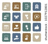 feedback and review icons.... | Shutterstock .eps vector #1027912801