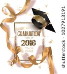 graduation 2018 party... | Shutterstock .eps vector #1027913191