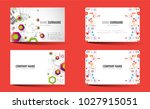creative double sided business...   Shutterstock .eps vector #1027915051