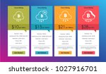 set of offer tariffs for for... | Shutterstock .eps vector #1027916701