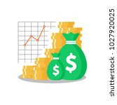 mutual fund  income increase ... | Shutterstock .eps vector #1027920025