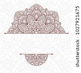 invitation card with mandala.... | Shutterstock .eps vector #1027921675