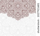 invitation card with mandala.... | Shutterstock .eps vector #1027921681