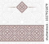 invitation card with mandala.... | Shutterstock .eps vector #1027921879