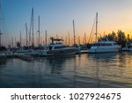 background of sailboat base... | Shutterstock . vector #1027924675