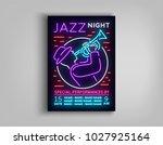 jazz music festival design... | Shutterstock .eps vector #1027925164
