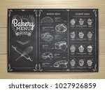 vintage chalk drawing bakery... | Shutterstock .eps vector #1027926859