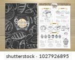 vintage chalk drawing bakery...   Shutterstock .eps vector #1027926895