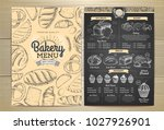 vintage chalk drawing bakery... | Shutterstock .eps vector #1027926901