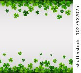 happy saint patricks day... | Shutterstock .eps vector #1027932025