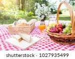 healthy food and accessories... | Shutterstock . vector #1027935499