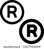 registered trademark icon... | Shutterstock .eps vector #1027935694