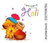 indian festival of happy holi... | Shutterstock .eps vector #1027938781