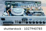 audio circuit connection system ... | Shutterstock . vector #1027940785