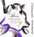 grand opening invitation card... | Shutterstock .eps vector #1027942111