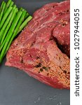 meat raw beef fillet chunk on... | Shutterstock . vector #1027944055