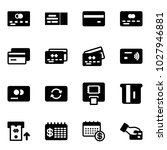 solid vector icon set   credit... | Shutterstock .eps vector #1027946881
