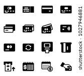 solid vector icon set   credit... | Shutterstock .eps vector #1027946881