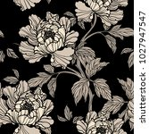 seamless pattern with peonies... | Shutterstock .eps vector #1027947547