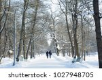 he and she   frosty years of... | Shutterstock . vector #1027948705