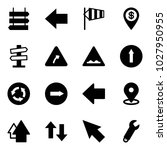 solid vector icon set   sign... | Shutterstock .eps vector #1027950955