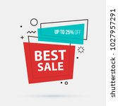 best sale banner template in... | Shutterstock .eps vector #1027957291