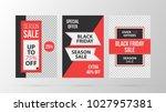three vertical black friday... | Shutterstock .eps vector #1027957381