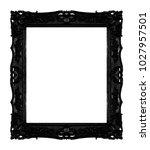 antique black frame isolated on ... | Shutterstock . vector #1027957501