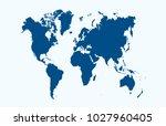 color world map vector | Shutterstock .eps vector #1027960405