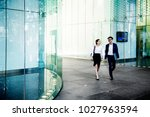 business people discussing... | Shutterstock . vector #1027963594