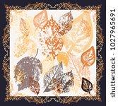 autumn square arrangement from... | Shutterstock . vector #1027965691