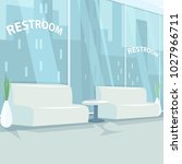 interior of rest room with... | Shutterstock .eps vector #1027966711