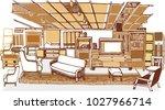 the vector of furniture... | Shutterstock .eps vector #1027966714