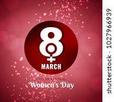 abstract vector women's day... | Shutterstock .eps vector #1027966939