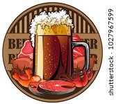 beer and snack  beer tag | Shutterstock .eps vector #1027967599