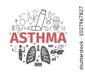 asthma banner. symptoms. asthma ... | Shutterstock .eps vector #1027967827