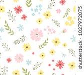 vector floral pattern in doodle ...   Shutterstock .eps vector #1027972075