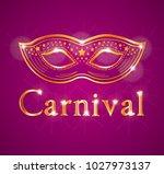 beautiful carnival illustration ... | Shutterstock . vector #1027973137