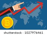 statistic report bitcoin.... | Shutterstock .eps vector #1027976461