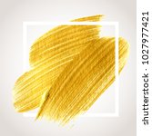 gold hand drawn paint brush... | Shutterstock .eps vector #1027977421