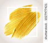 gold hand drawn paint brush... | Shutterstock .eps vector #1027977421