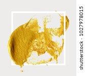 gold hand drawn paint brush... | Shutterstock .eps vector #1027978015