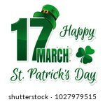 vector logo for st. patrick's... | Shutterstock .eps vector #1027979515